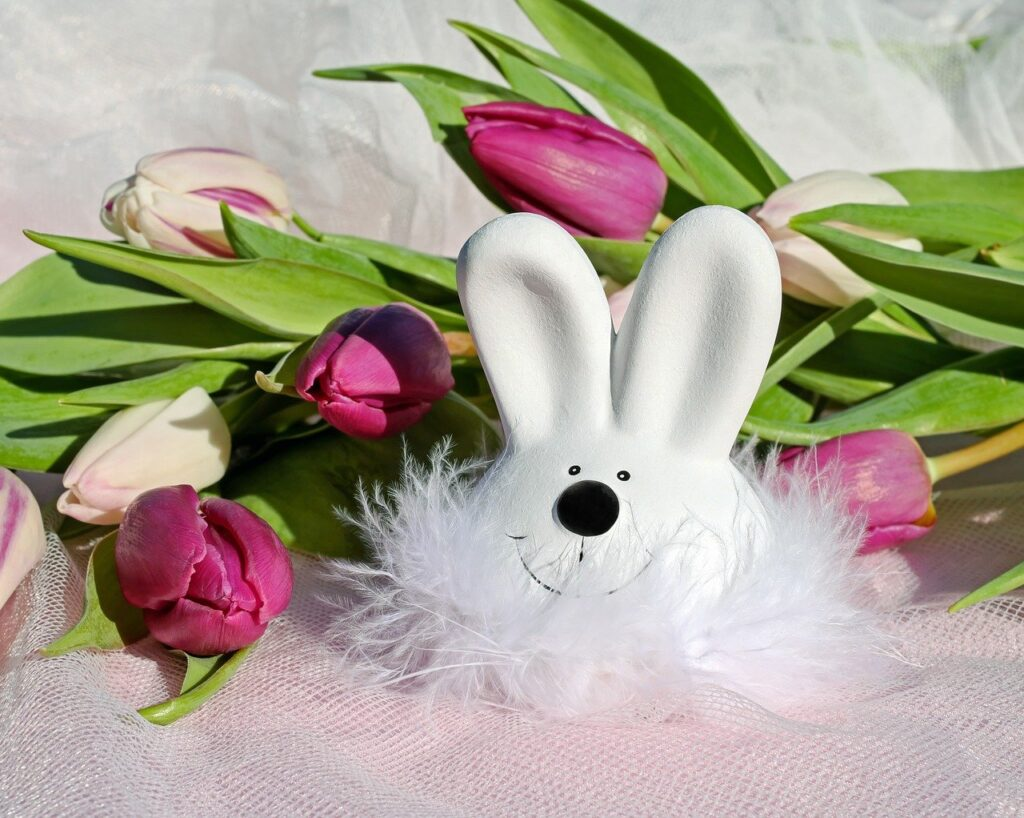 easter bunny, easter, figure